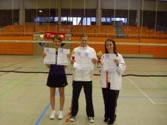 2011-03-12 Vereinsmeisterschaft 2011 - Siegerehrung Dameneinzel