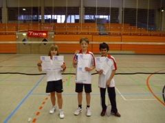 2011-03-12 Vereinsmeisterschaft 2011 - Siegerehrung Herreneinzel U18