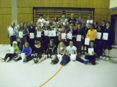 2011-10-30 Bezirksmeisterschaften U11 - U19 in Weilburg Podestplatzierte