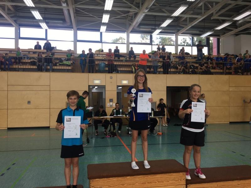2016-10-08 Bezirksmeisterschaften U11-U19 Siegerehrung DE U13 Josefine Hof
