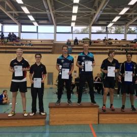 2016-10-08 Bezirksmeisterschaften U11-U19 Siegerehrung HD U19 Moritz Weiss Daniel Klement