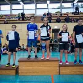 2016-10-08 Bezirksmeisterschaften U11-U19 Siegerehrung MX U15 Ida Warfsmann Enno Heusler