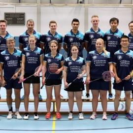 2016-11-27 TV 1843 Dillenburg BADMINTON 1. + 2. Mannschaft stehend