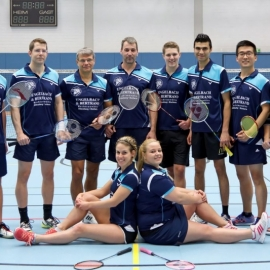 2016-11-27 TV 1843 Dillenburg BADMINTON 2. Mannschaft sitzend