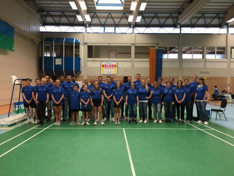 2017-09-10 Badminton-Länderspiel Dillenburg Helferteam