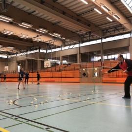 2018-04-12 Training donnerstags A-Trainer Roman Birkholz Dillenburg Ballmaschine