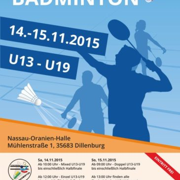 Hessische Meisterschaft U13 – U19 in Dillenburg