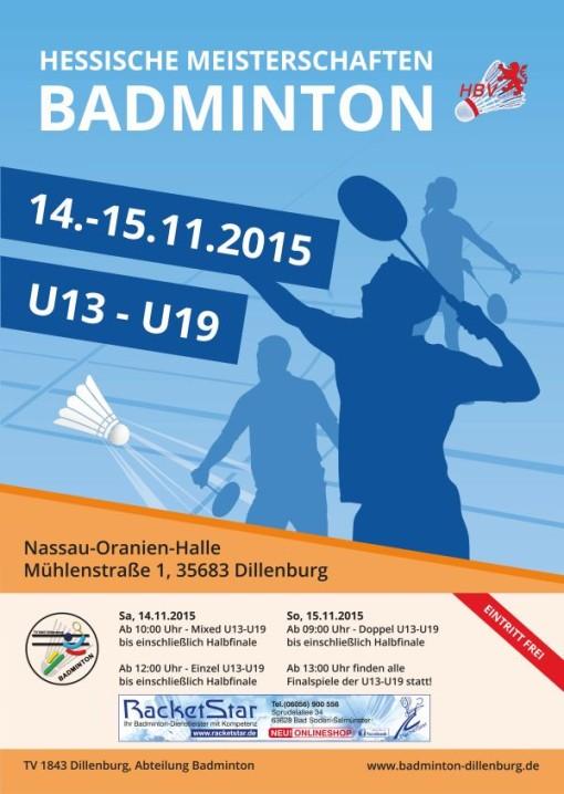 Hessische Meisterschaften U13 - U19 2015 in Dillenburg