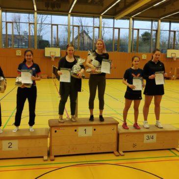 Lisa Löhr gewinnt Hessische Meisterschaft U22 im Damendoppel