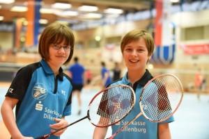 Erstmals bei U15 siegreich: Josefine Hof (rechts; links: Lena Sommavilla), Foto: Katharina Weber